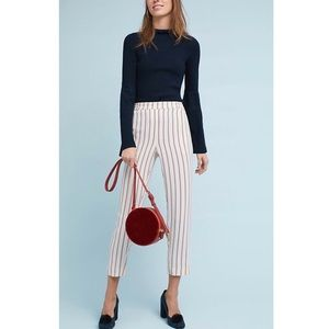 Anthropologie Striped Essential Pull On Trouser